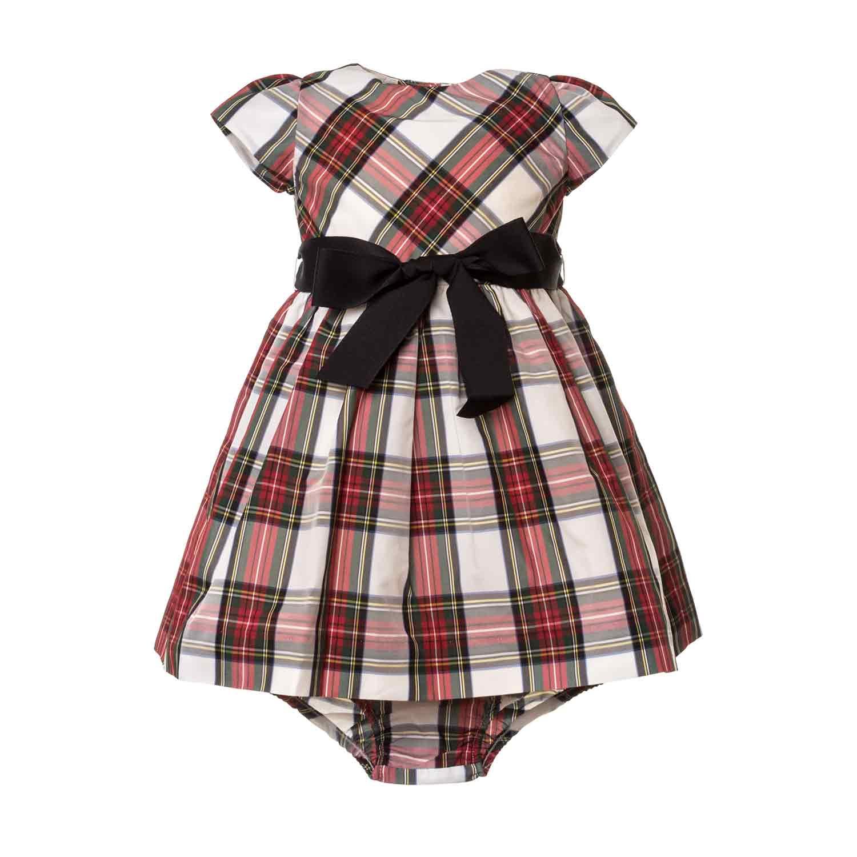 2f3ed287f91f ... Dresses long tops; Baby Girls Tartan Dress.  27160-ralph_lauren_abito_tartan_bimba_neonata-1.jpg