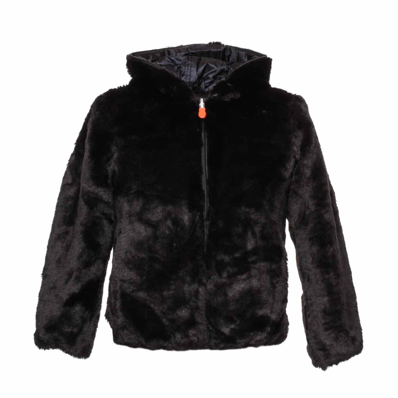 sports shoes 0bb84 762b4 Reversabile Black Jacket For Girls