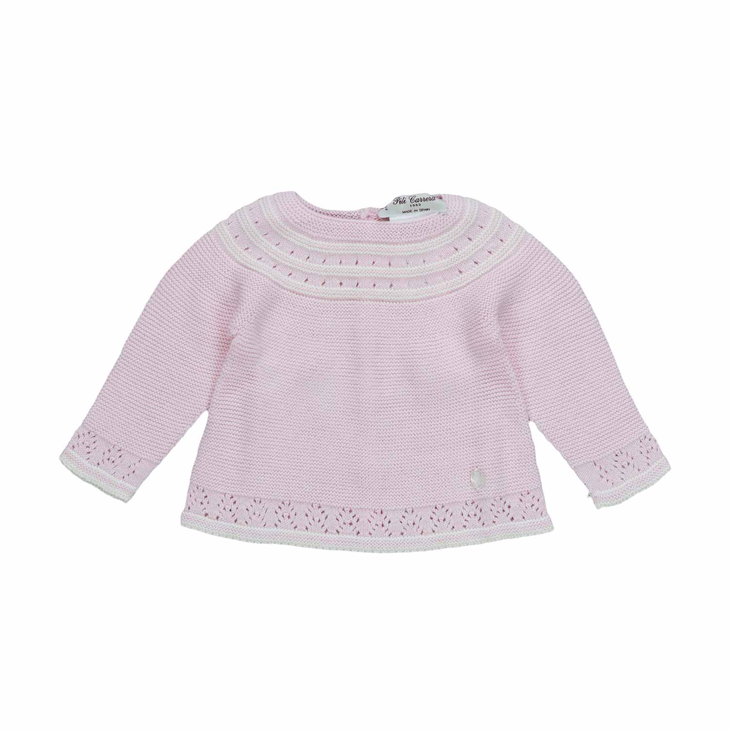d309510b0 Pili Carrera - Lilac Sweater For Baby Girls - annameglio.com shop online
