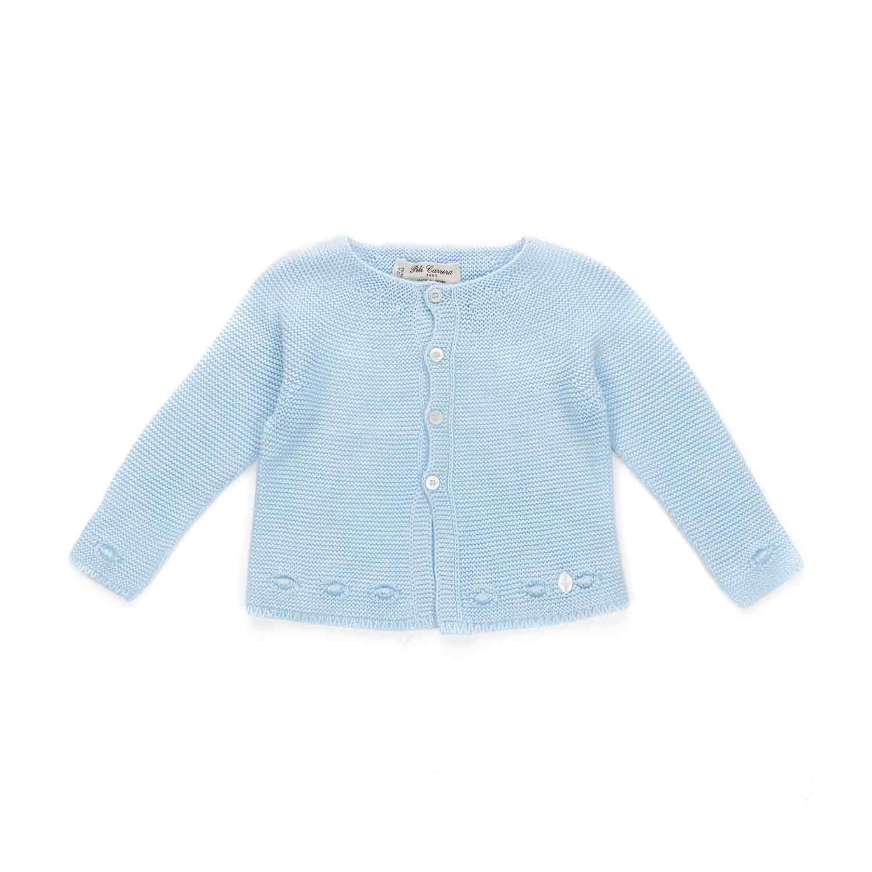 4819fecef Pili Carrera - Light Blue Baby Cardigan - annameglio.com shop online