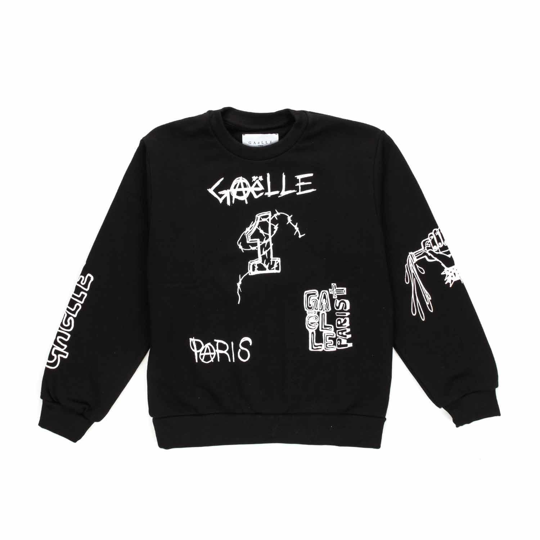 d756ef635207d7 Gaelle Paris - Black Sweatshirt With Logo For Boys - annameglio.com ...