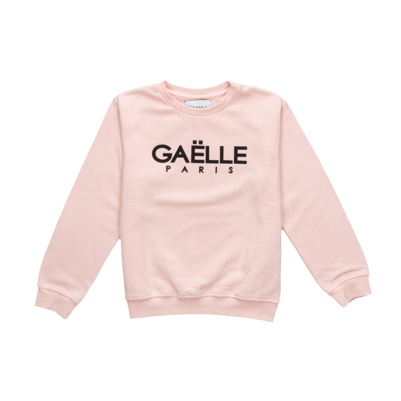 cc074e017aef54 Gaelle Paris - Girl Pink Logo Sweatshirt - annameglio.com shop online