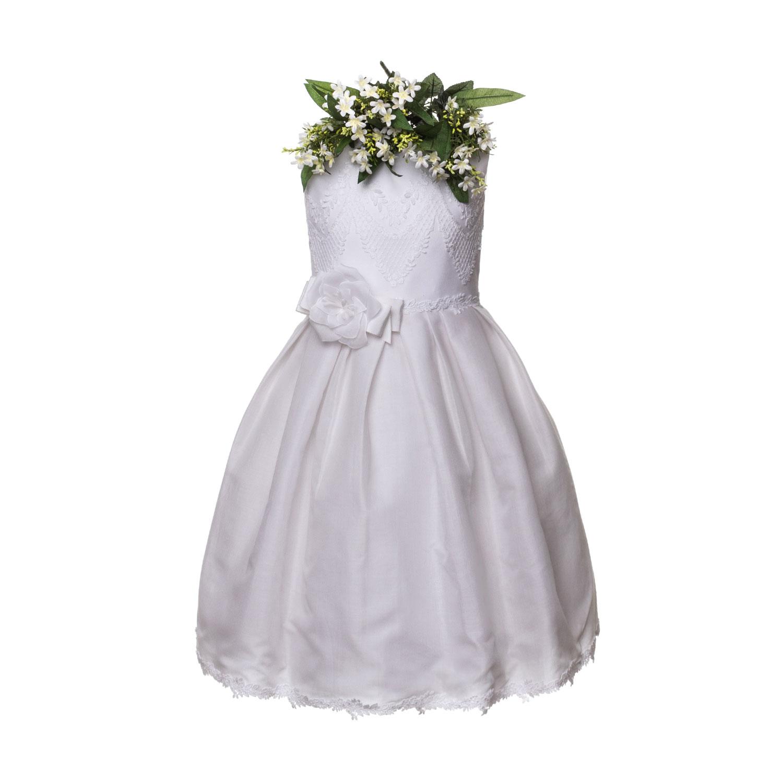 Raffaella - Abito Bianco Cerimonia Bambina - annameglio.com shop online 04b5c5c81e7