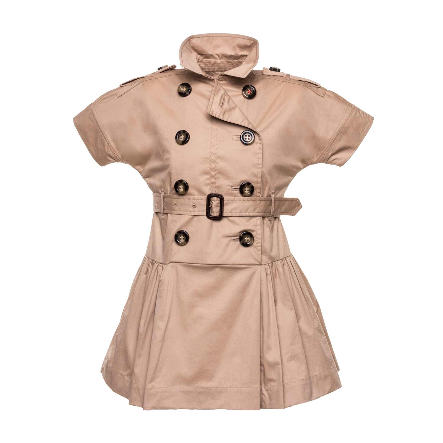 10847cdbd Home · BURBERRY · Dresses long tops; Cotton Trench Dress For Girls.  27700-burberry_abito_trench_bambina_teenager-1.jpg