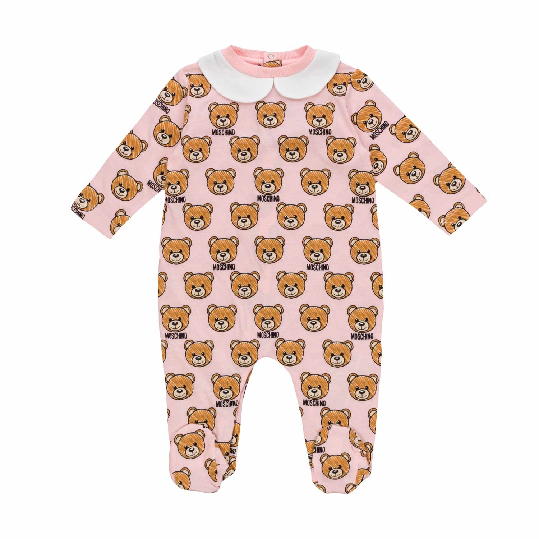 cfbee96e1cb5 Moschino - Teddy Bear Romper For Baby Girls - annameglio.com shop online