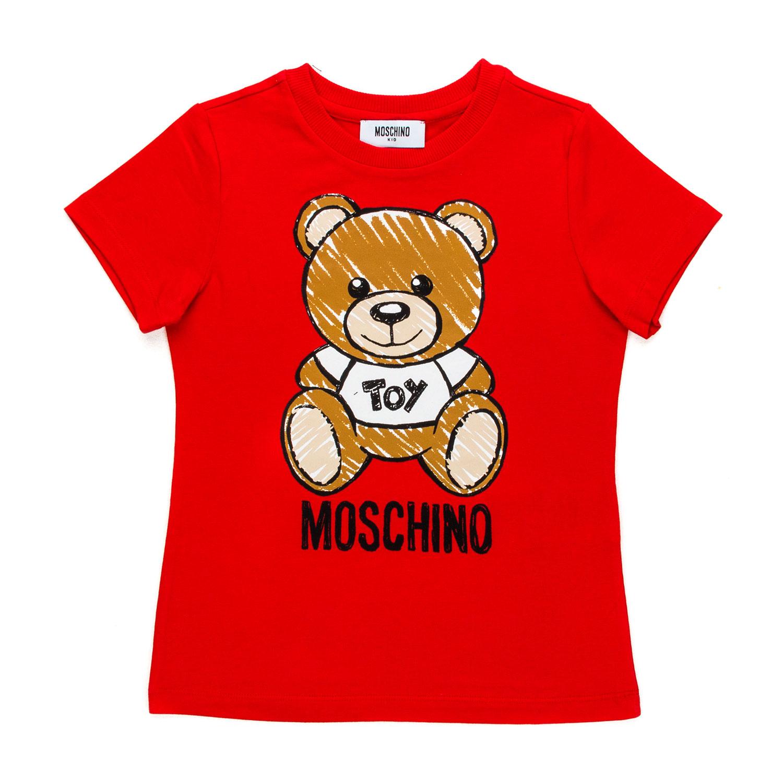 e17538067b4 ... Teddy Bear Red T-Shirt For Girl.  27976-moschino_tshirt_rossa_bear_bambina_teen-1.jpg