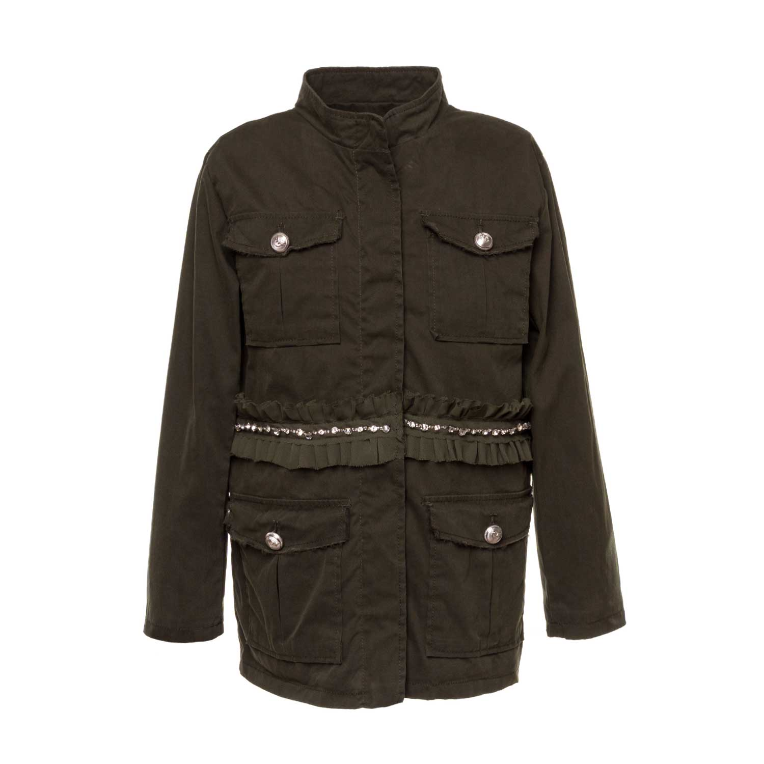 low priced 117e7 eab89 Green Metauro Parka For Girls