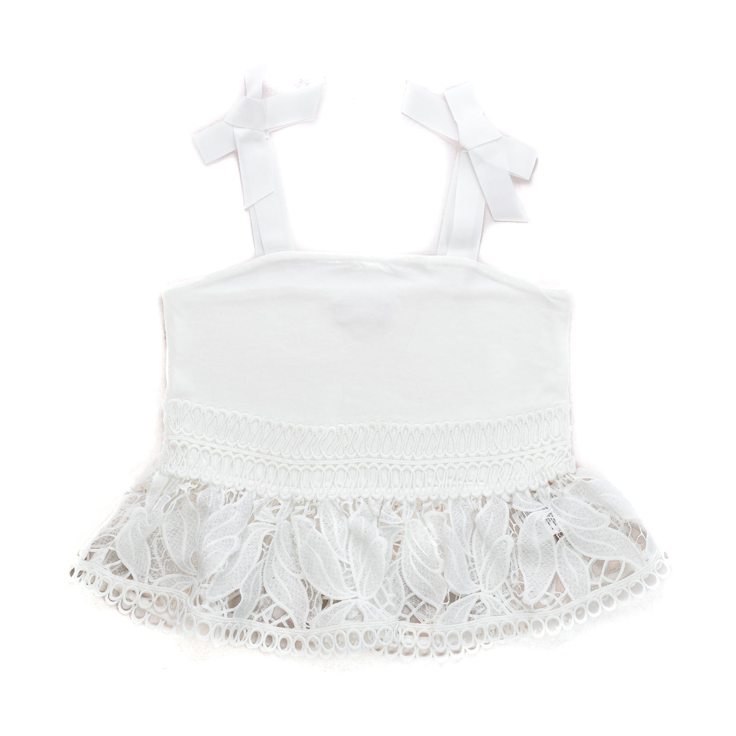 cheap for discount 65020 09c4f White Lace Top For Girls