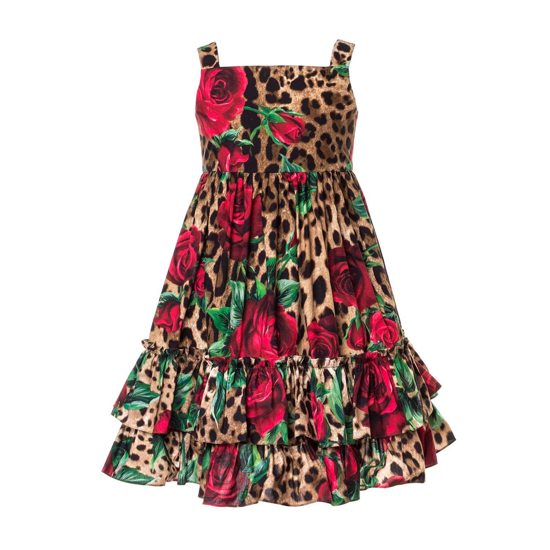 d23461d879c3 Dolce   Gabbana - Leopard Dress For Girls - annameglio.com shop online