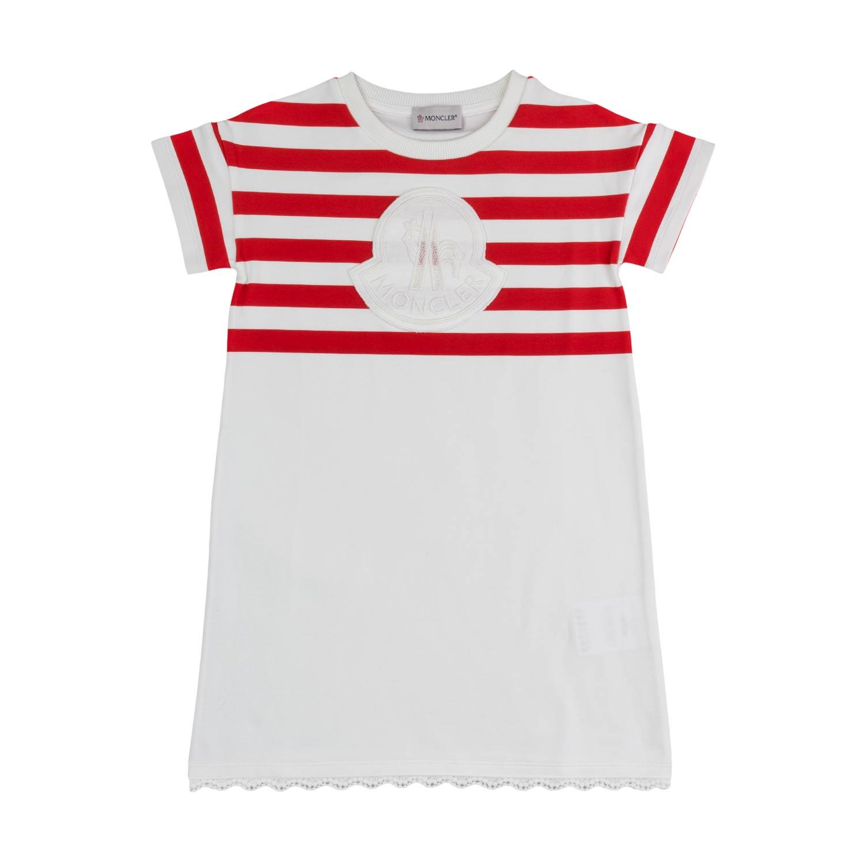 04013d430 Moncler - Cotton Logo Dress For Girls - annameglio.com shop online
