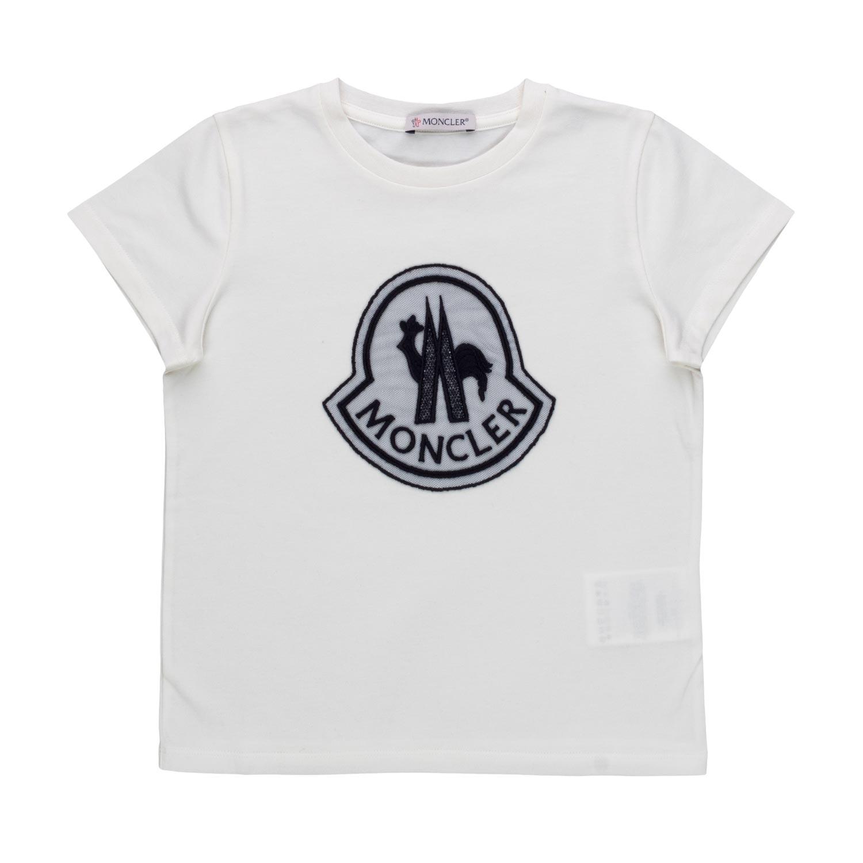 Shop Shirt Online Logo Girls White Moncler T tQrhsd