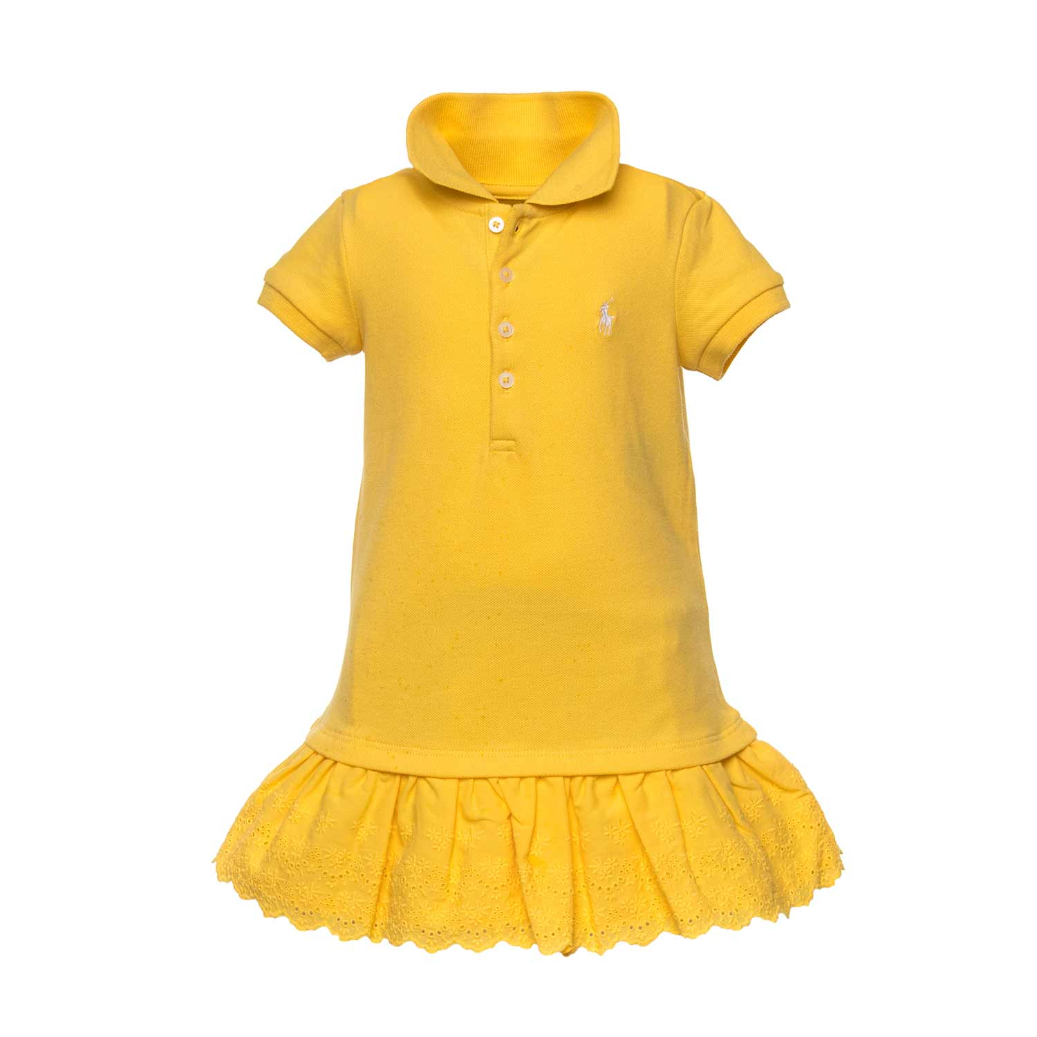 826e19c63f Yellow Polo Dress For Girls