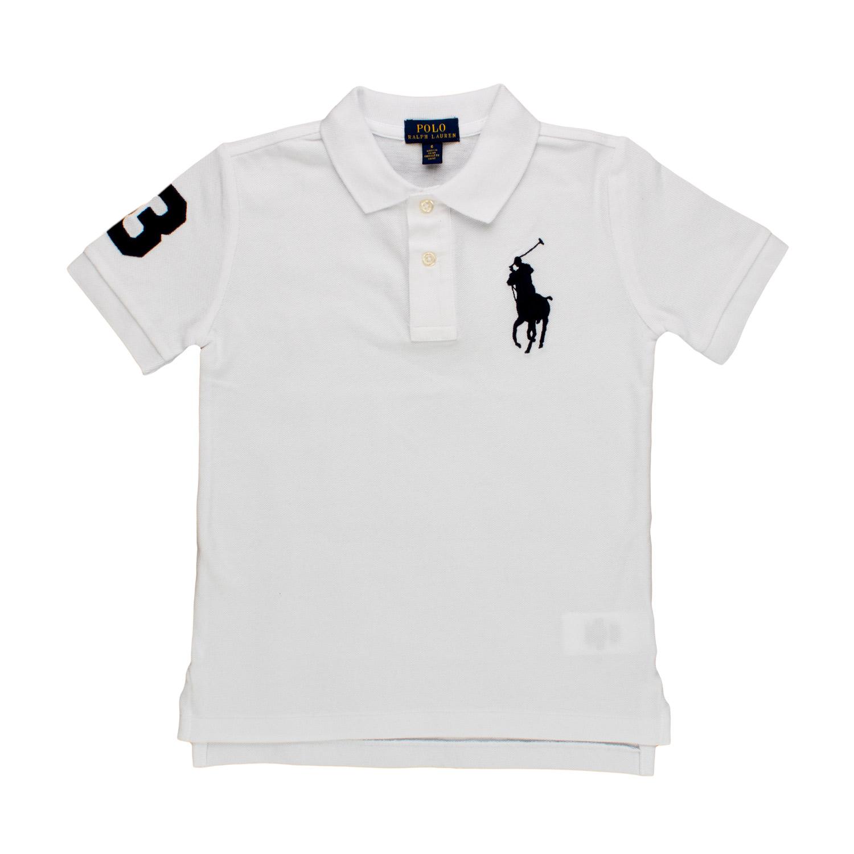 best service 39be6 6888f Polo Bianca Con Logo Bambino