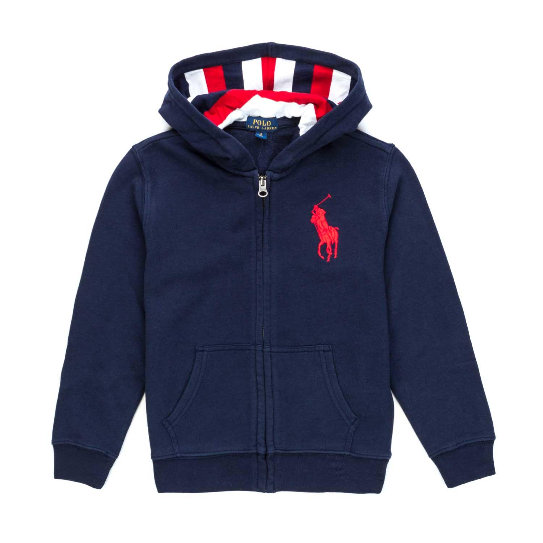fea415c6e Home · RALPH LAUREN · Cardigans Sweater Jumpers; Blue Zip Hoodie For Boys.  28351-ralph_lauren_felpa_blu_zip_bambino-1.jpg