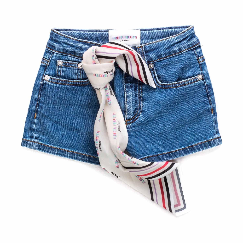 2b65fdacc72a Alberta Ferretti - Jeans Shorts For Girls - annameglio.com shop online