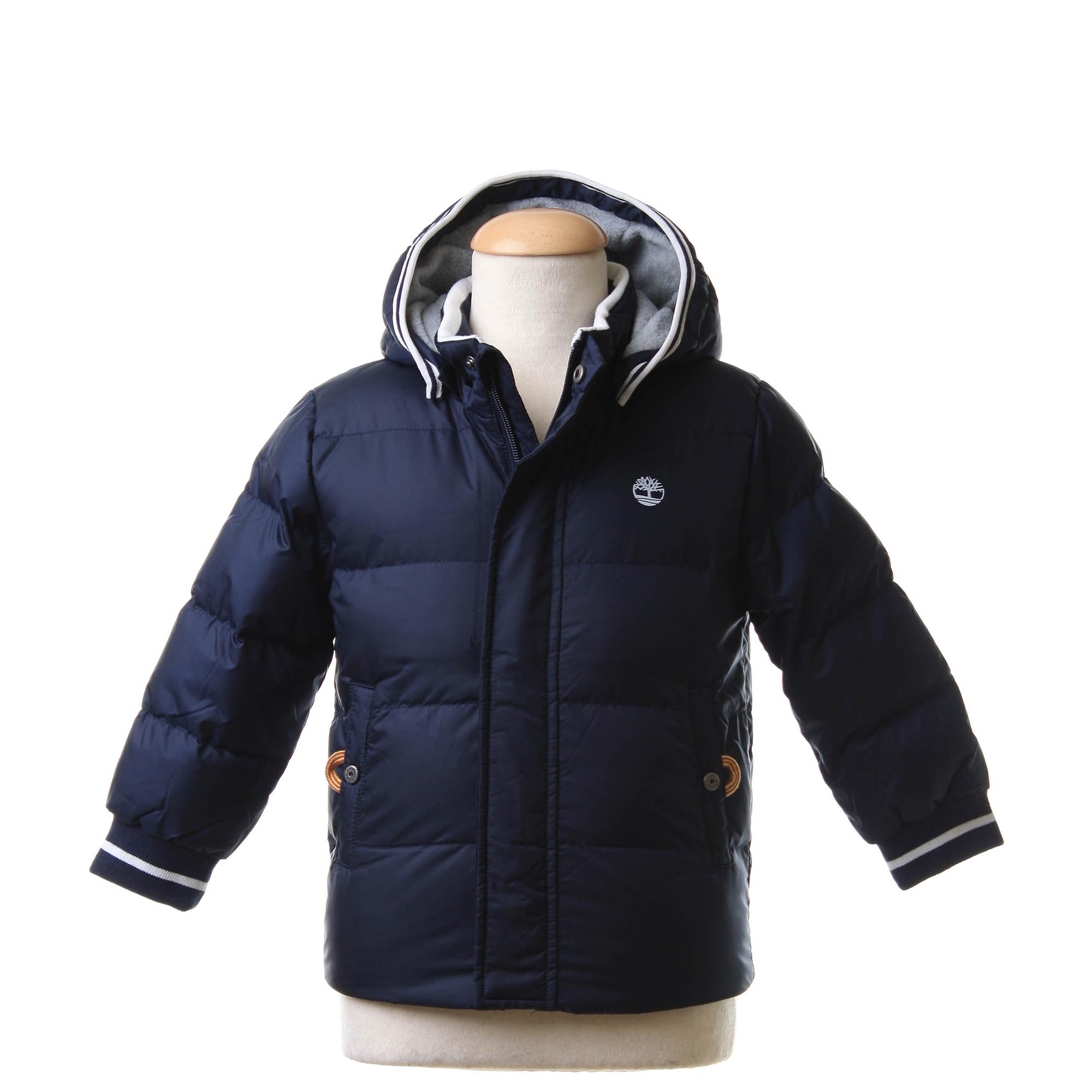 Timberland - Piumino Waterproof Con Cappuccio Blu Navy - annameglio.com  shop online 2b8b92b3fc6