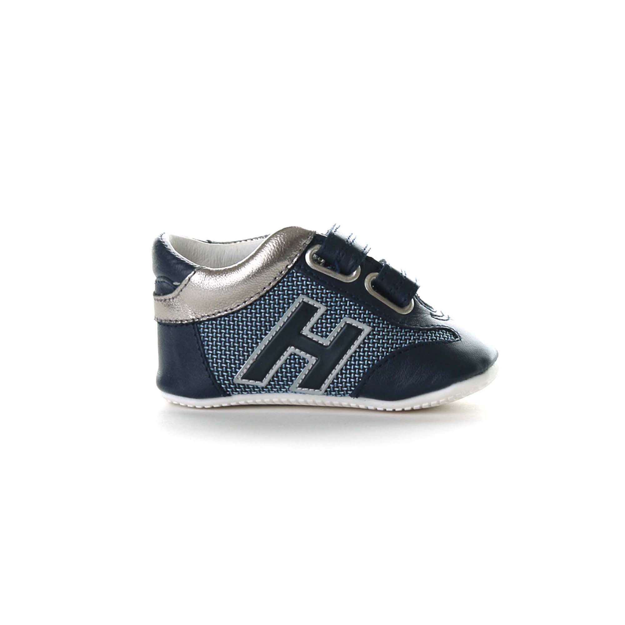 Baby Sneakers Olympia Blu E Argento