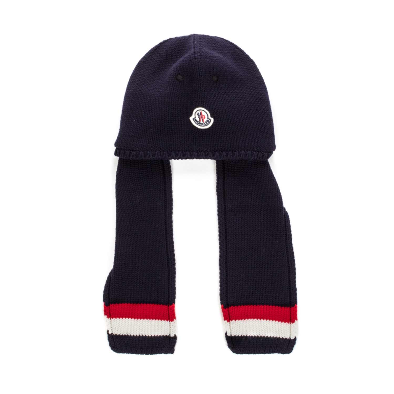 orologio 23f9d b04c2 Cappello Blu Con Sciarpa Bimbo