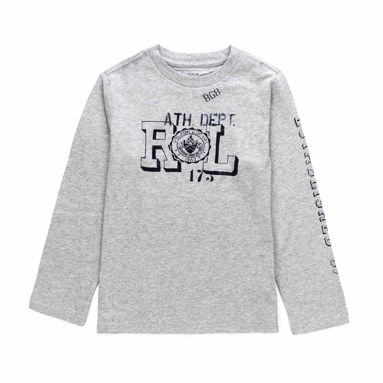 half off b4562 ed1fc Boy Grey Cotton T-Shirt