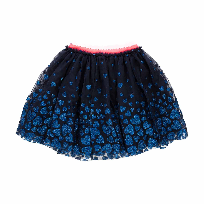 BONNY BILLY Gonna Bambina Tulle Blu Corta Elegante Cerimonia Festa con Paillettes