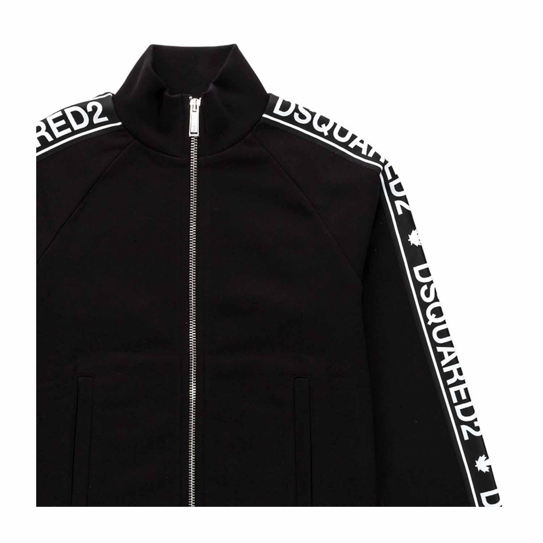 6c52048134f226 Dsquared2 - Felpa Nera Con Zip Teen Bambino - annameglio.com shop online