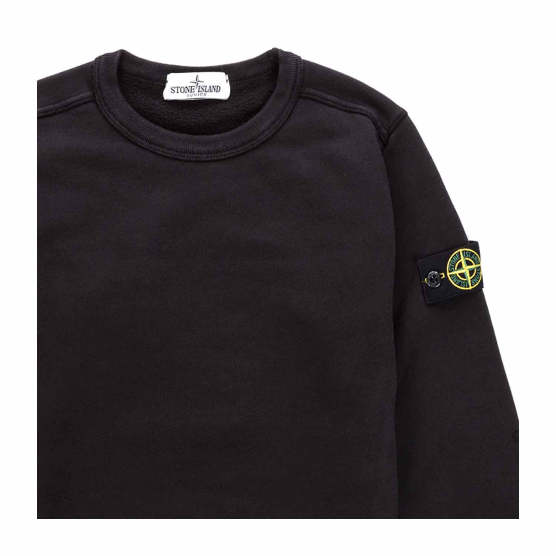 Stone Island Boy Black Cotton Sweatshirt Annameglio Com Shop Online