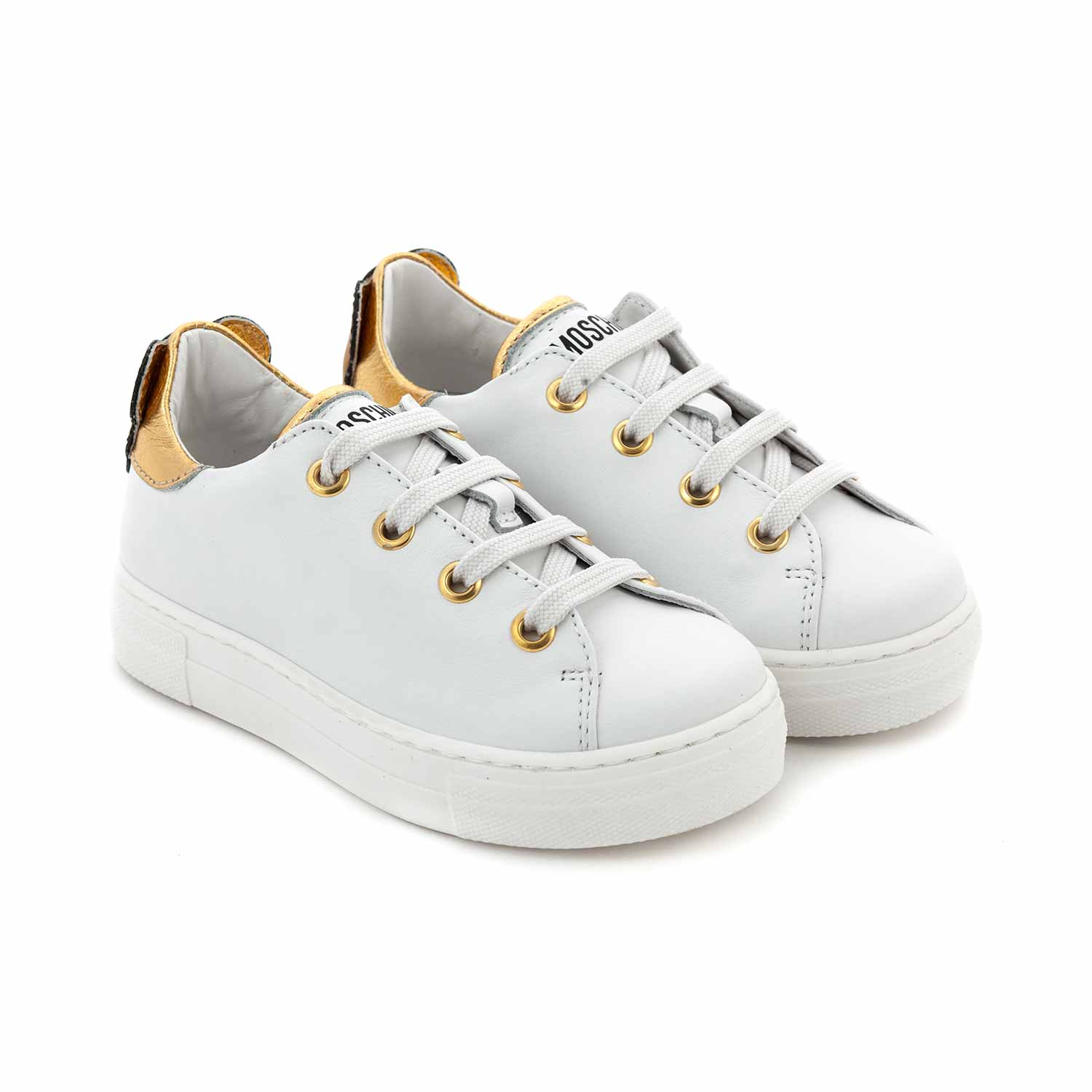 Sneakers Bianche Orsetto Bambina