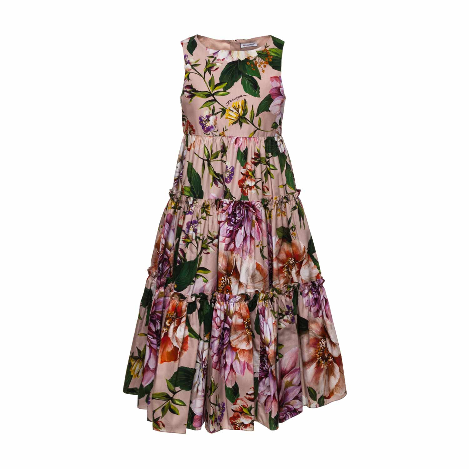 Dolce Gabbana Long Floral Dress For Girls Annameglio Com Shop Online