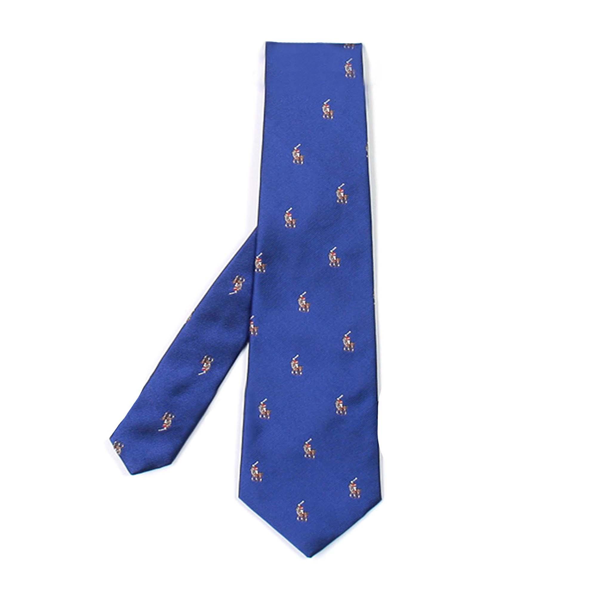 on sale a5d36 43127 Cravatta Bambino Blu In Reps Di Seta Con Pony