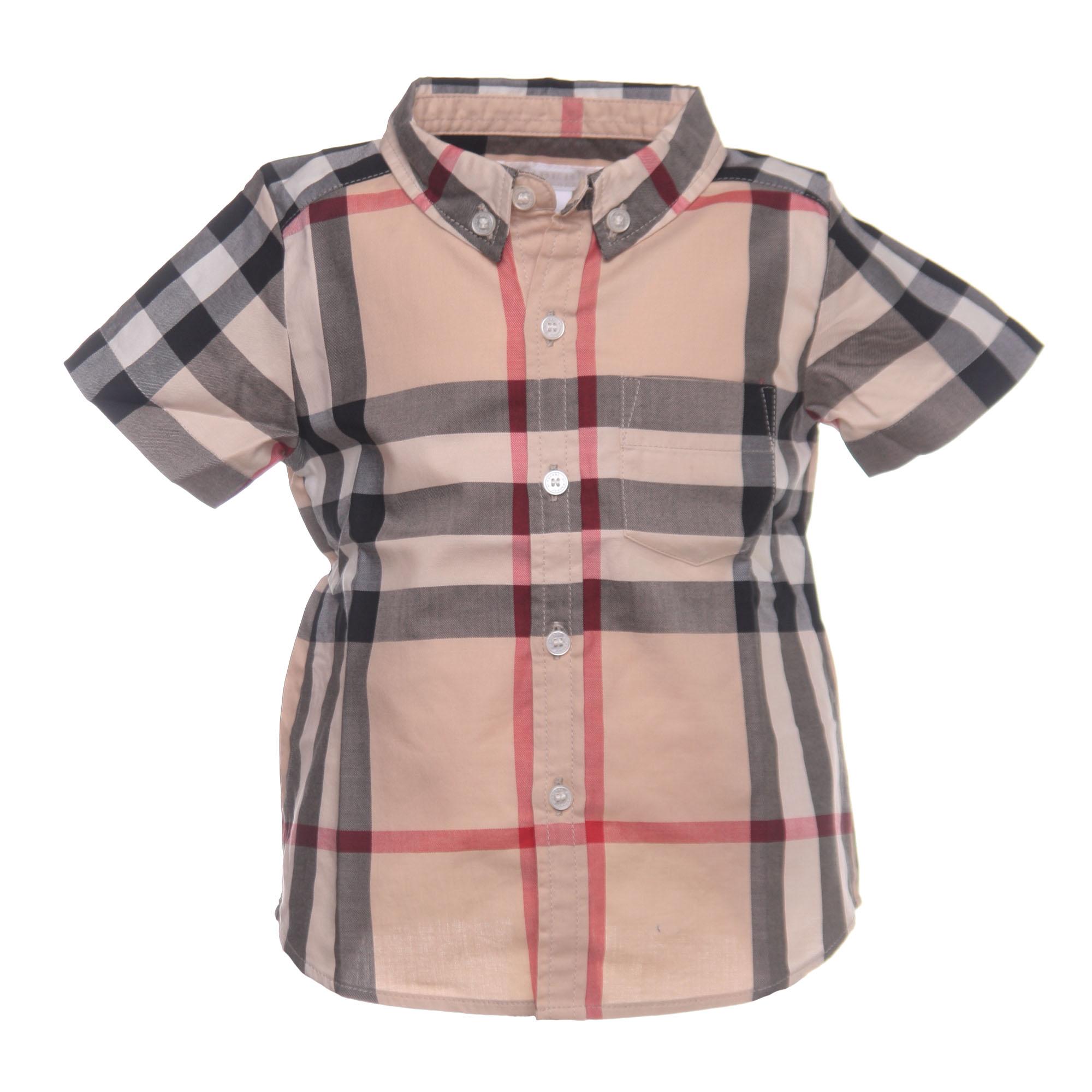 8d61e6ddb3f5 Burberry - Camicia Bambino Check Manica Corta - annameglio.com shop ...