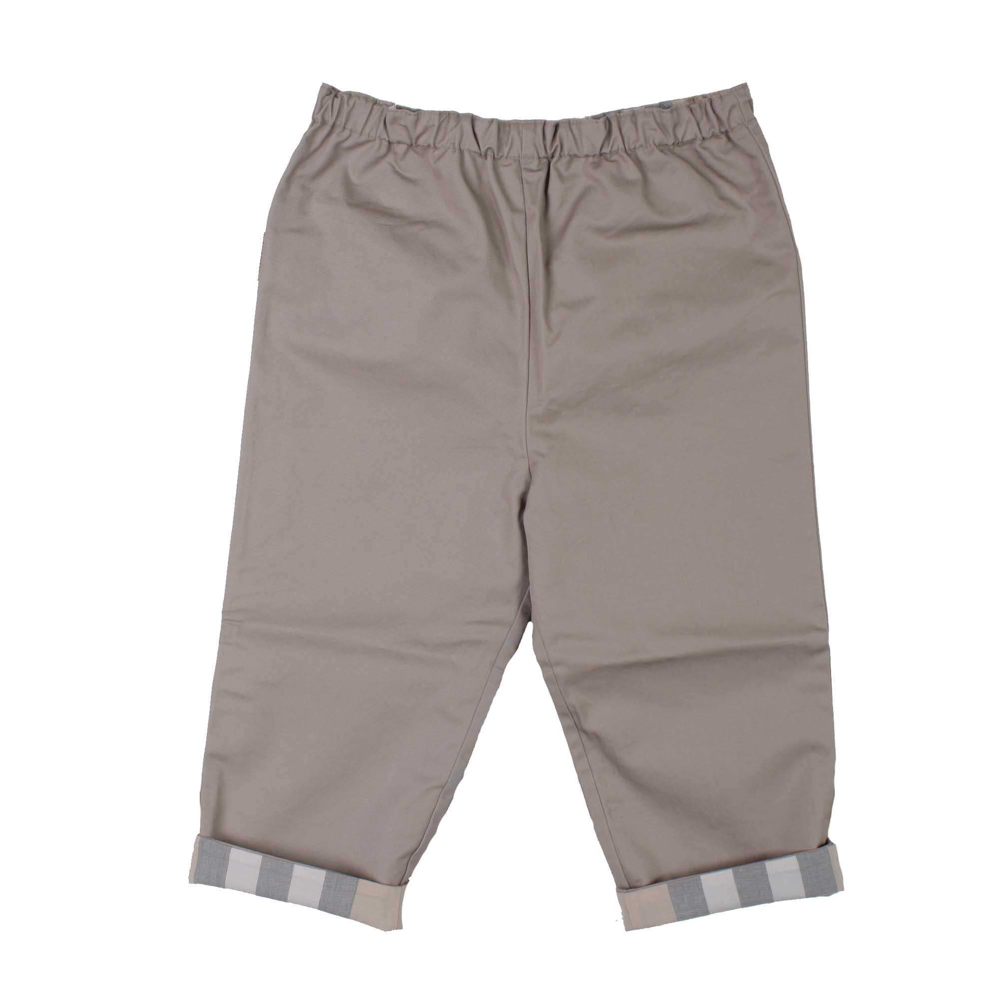 9b0290f81994 Burberry - Pantalone Neonato Beige Con Risvolti Check - annameglio ...