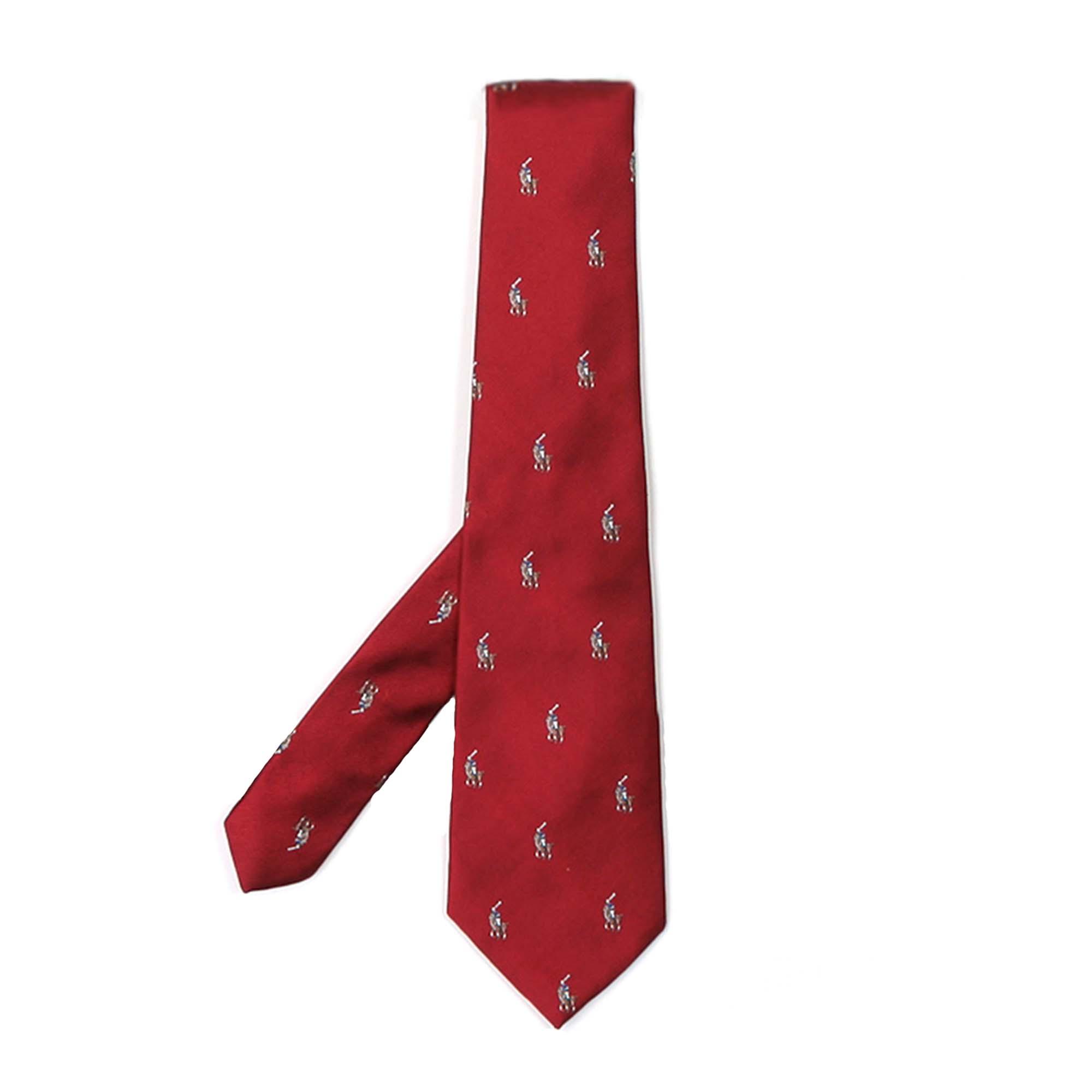 sale retailer 11105 b8486 Cravatta Bambino Rossa In Reps Di Seta Con Pony