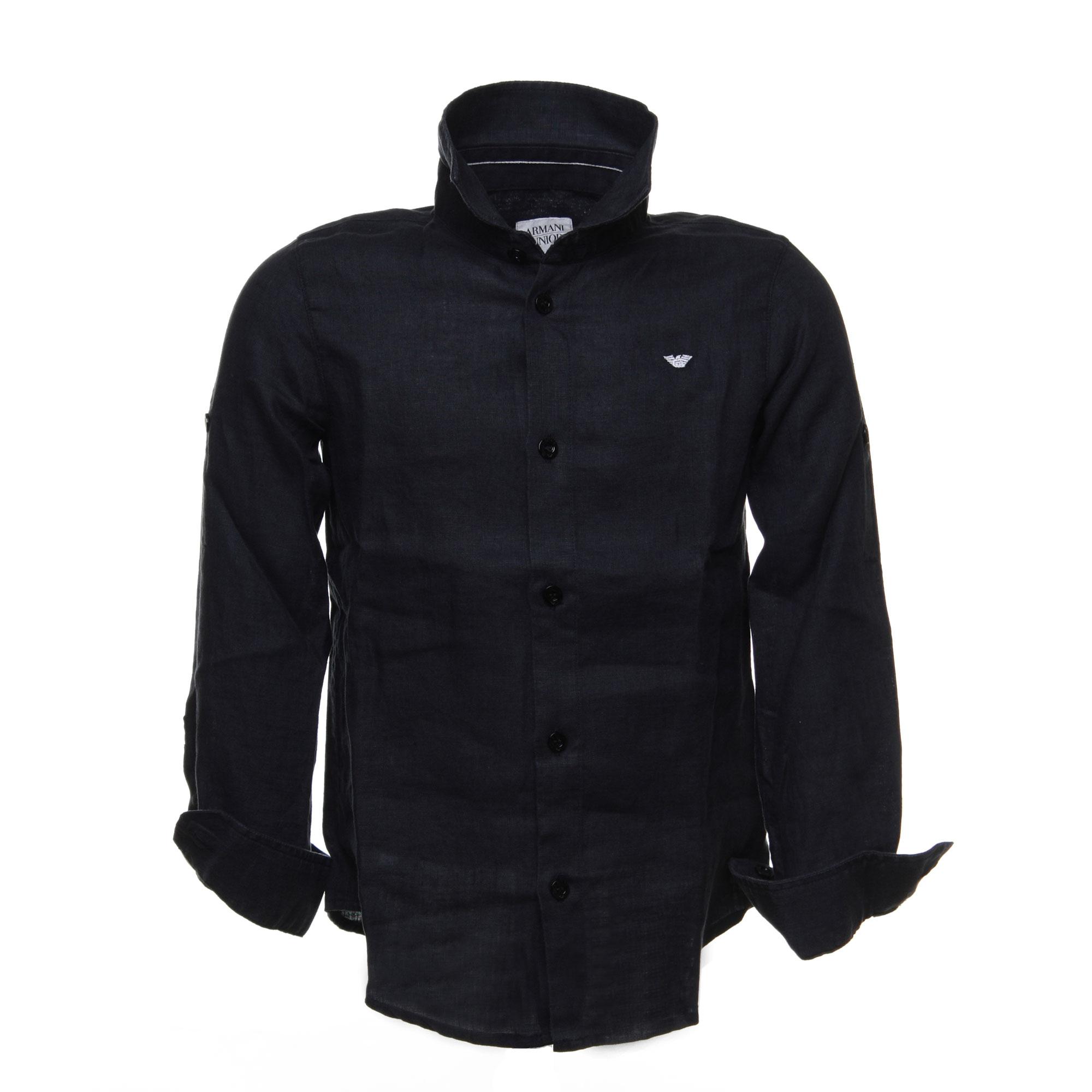 on sale 34fc7 0bd44 Camicia In Lino Bambino Nero