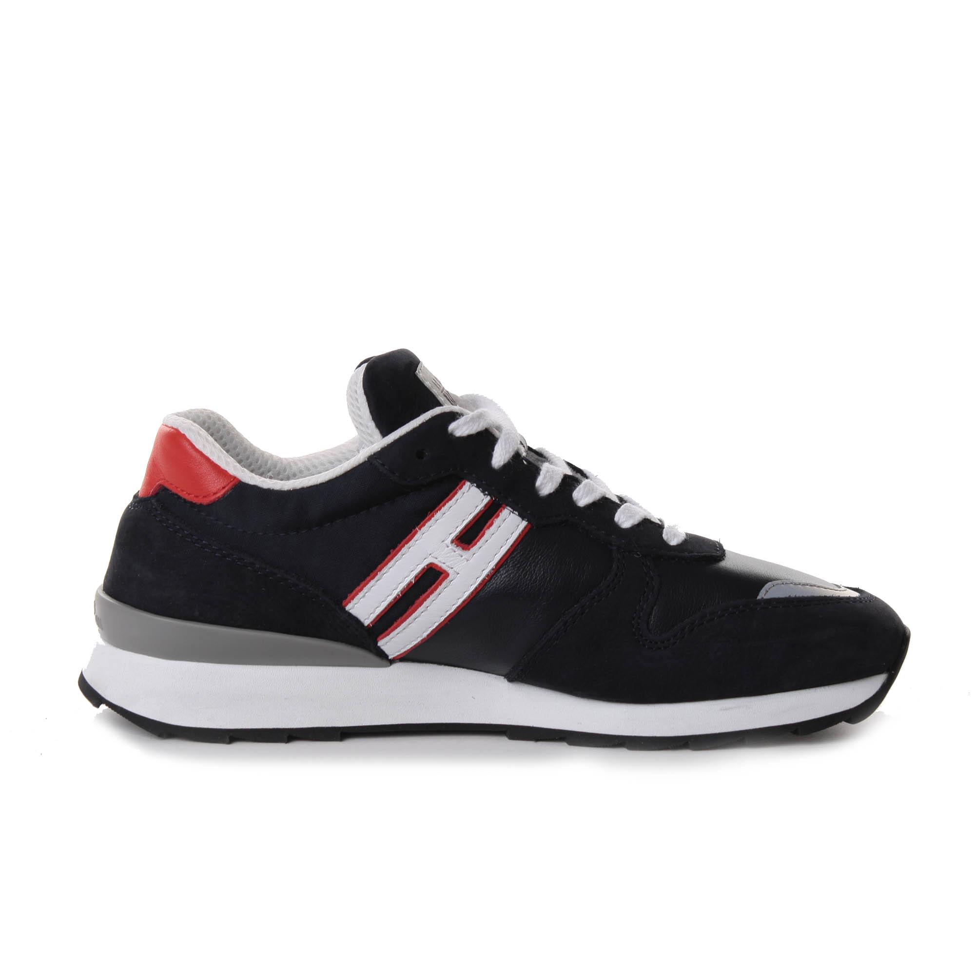 hogan athletic sneakers camoscio blu
