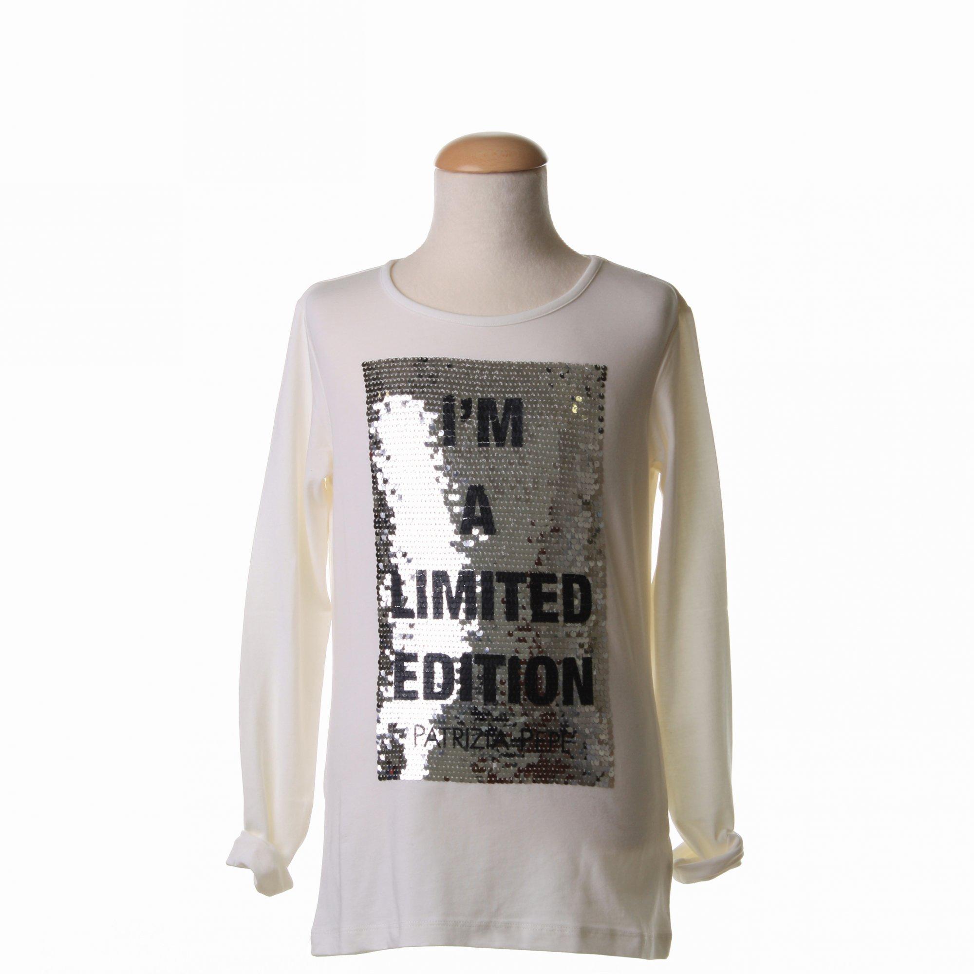 best loved e98de 08369 T-Shirt Stampa Con Palliettes Bianco Latte