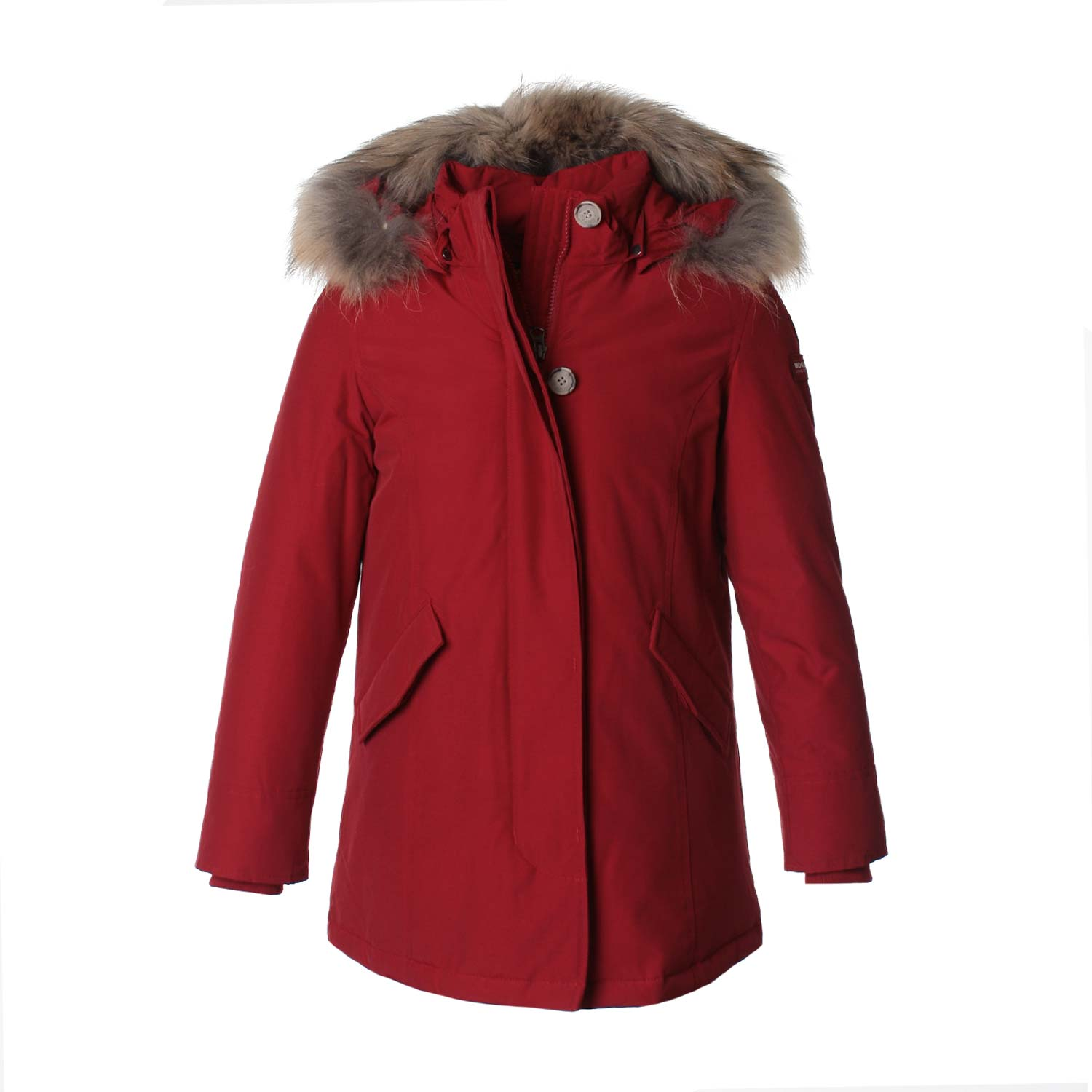 woolrich luxury arctic parka girl rosso. Black Bedroom Furniture Sets. Home Design Ideas