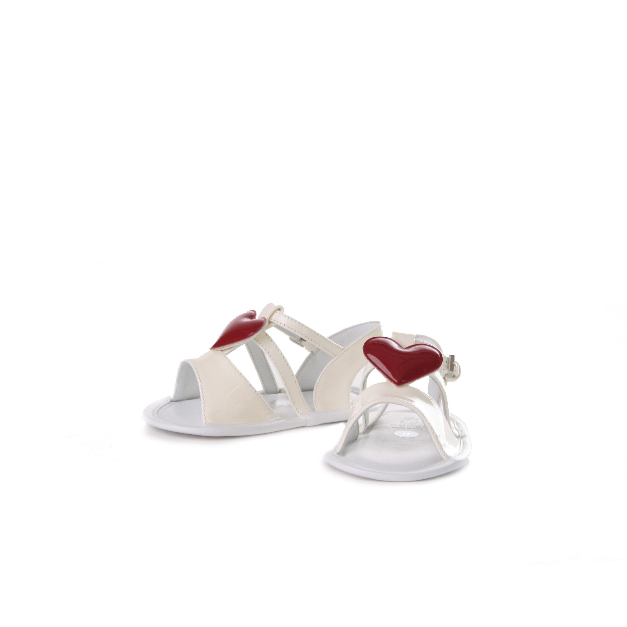 separation shoes 830b7 05624 Sandali Neonata Bianchi Con Cuore Rosso