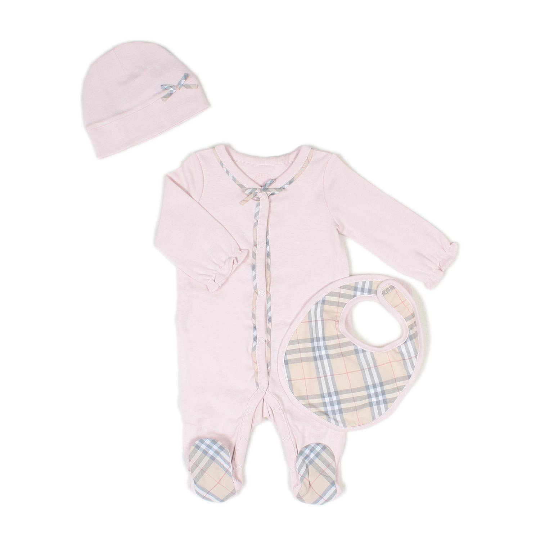 Burberry Väska Rosa : Burberry set tutina rosa neonata annameglio