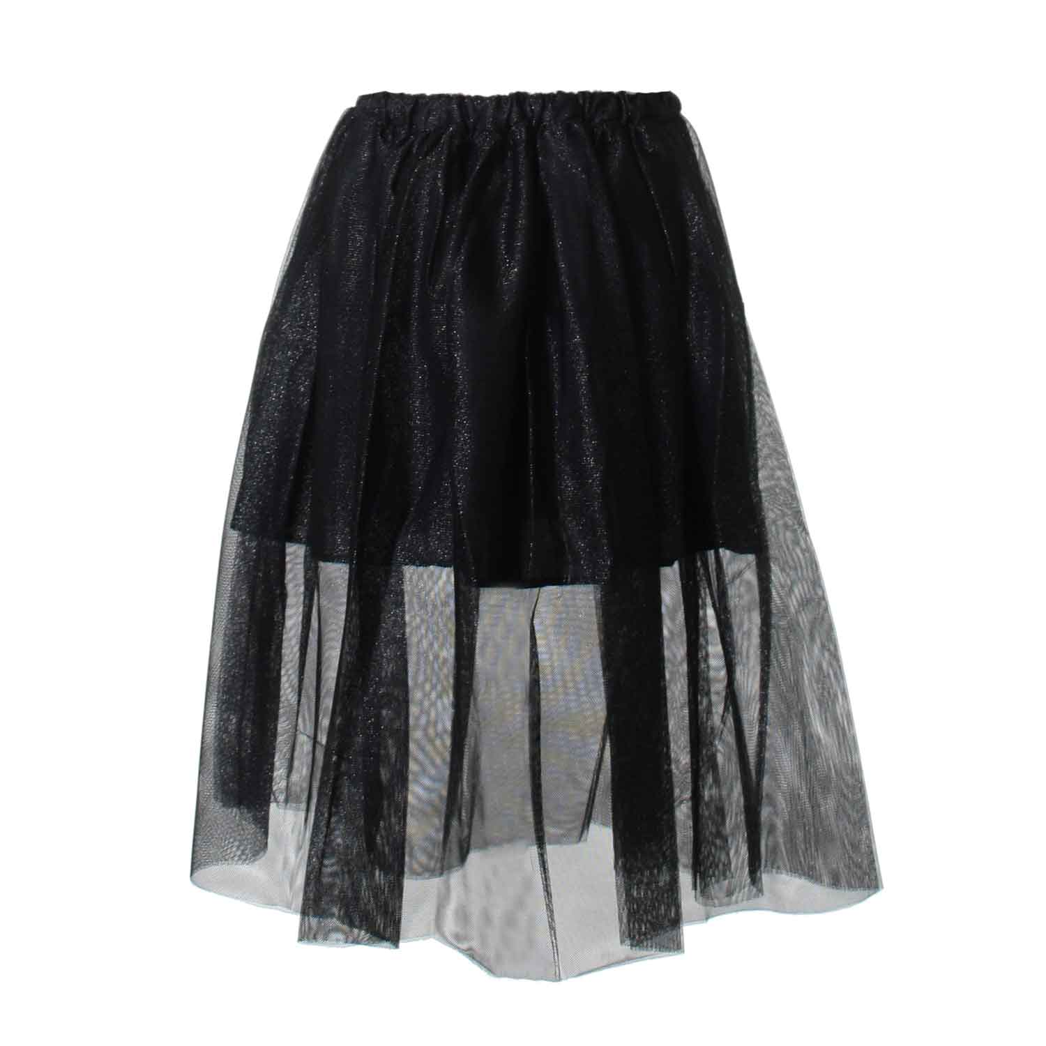 innovative design 7118d 8355b Gonna Tulle Nero Argento