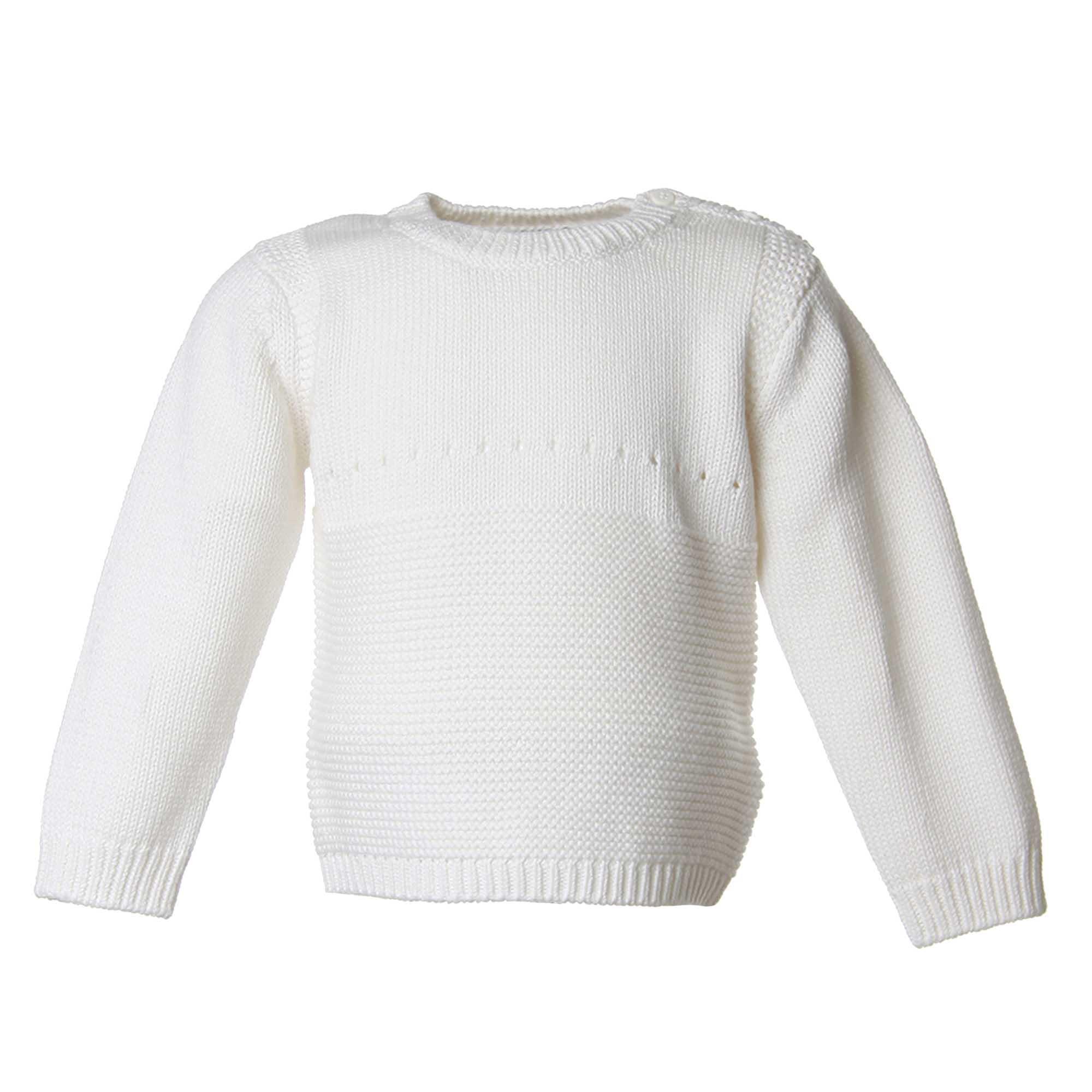 new style dc730 93180 Maglione Bianco Bimba Con Coniglietto
