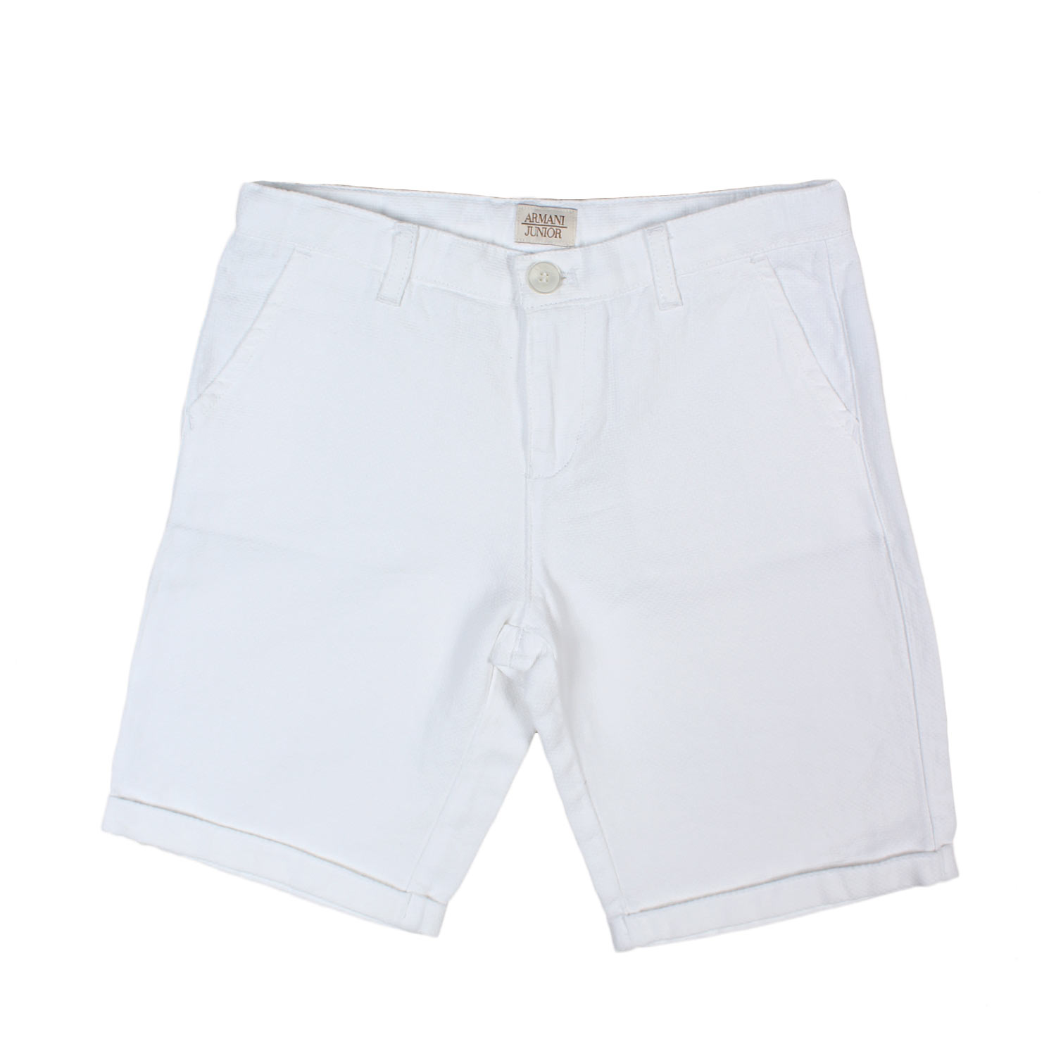 Armani Junior Online Bianco Bermuda Shop Boy HrFpcqArwY