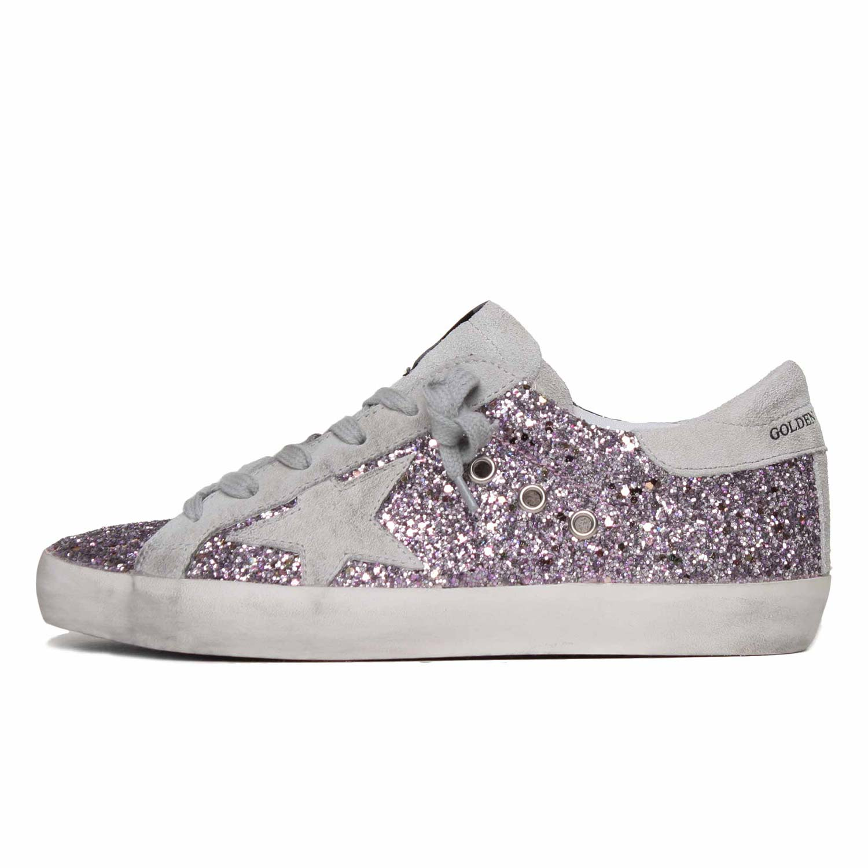 9853b57478 Golden Goose - Sneaker Superstar Glitter Pink Teen - annameglio.com ...