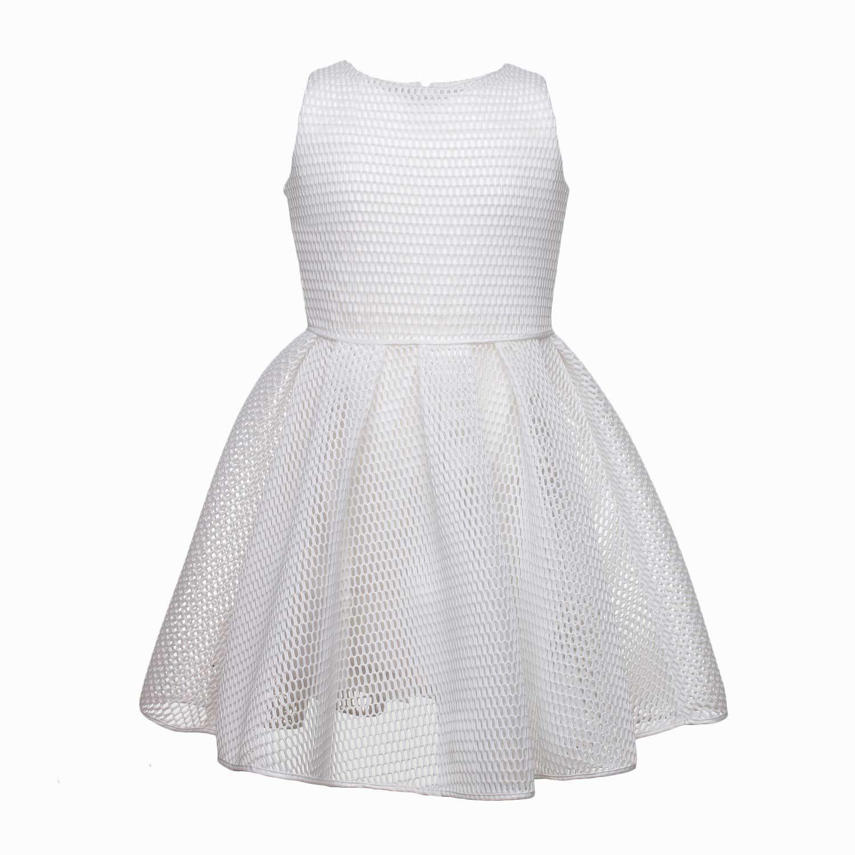 7a2d460a66f2 ... Esclusivo abito bianco scamiciato della nuova linea di abbigliamento  Bambina e. Elsy