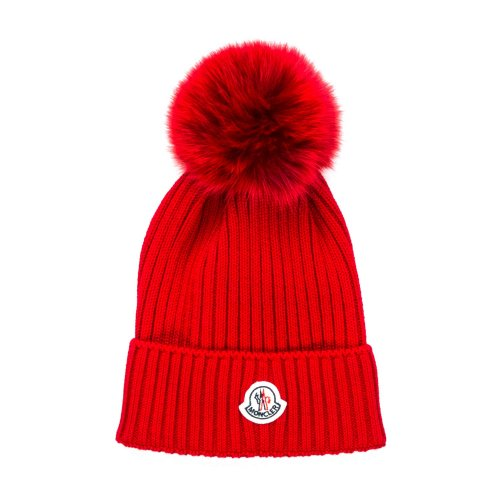 b52aa1400f8 26401-moncler cappello pon pon rosso girl-1.jpg Moncler GIRL RED KNITTED  BOBBLE HAT ...