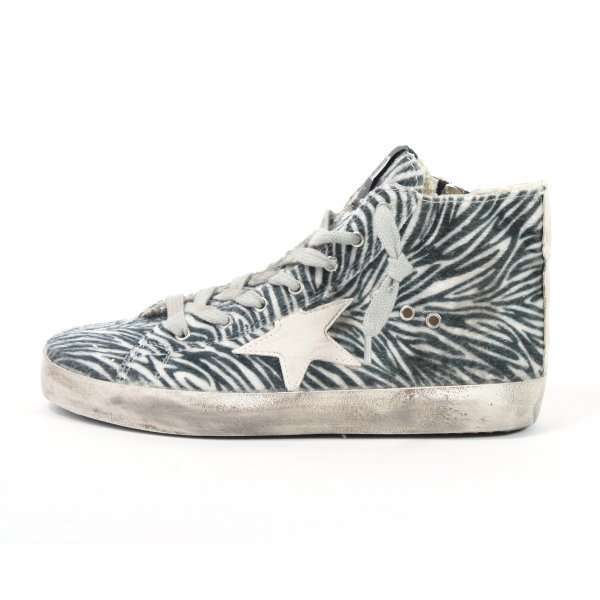 Golden Goose - SNEAKERS FRANCY IN TESSUTO STAMPATO ZEBRA - JUNIOR