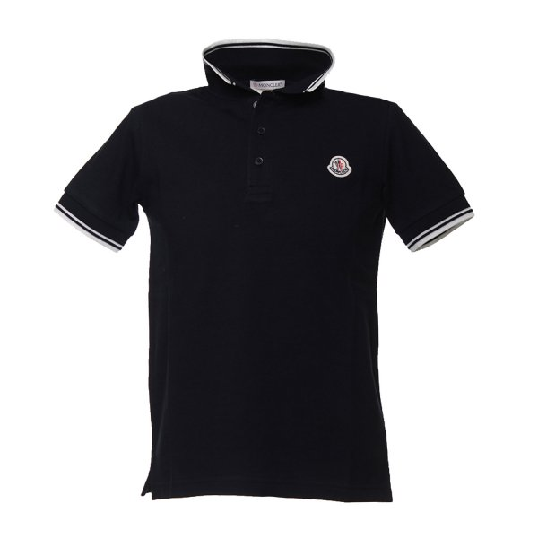 Moncler - POLO JUNIOR BLU NAVY