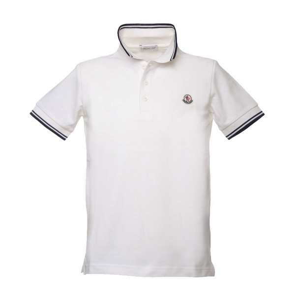 Moncler - POLO JUNIOR BIANCA