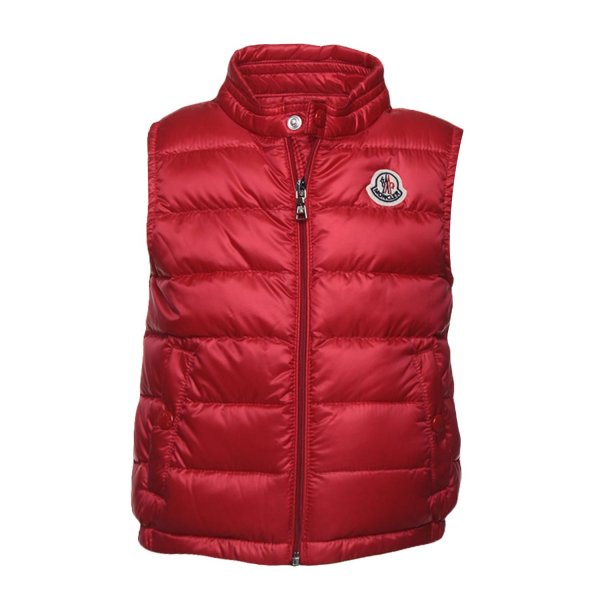 Moncler - PIUMINO GILET BABY ROSSO