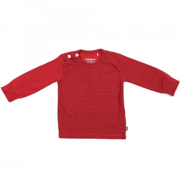 Imps & Elfs - T-shirt manica lunga jersey navy style rosso