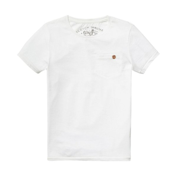 Scotch & Soda - T-shirt Tinta in Capo Off White